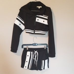 Two Piece black and white set